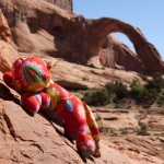 Charlie nell'Arches National Park